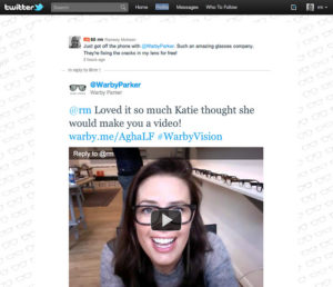 Warby Parker social video